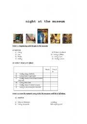 English Worksheet: Night at the museum