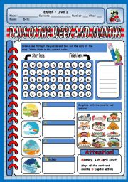 English Worksheet: DAYS OF THE WEEK, SEASONS AND MONTHS