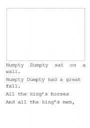 English Worksheet: Humpty Dumpty writing paper