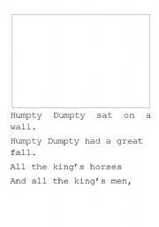 English Worksheets: Humpty Dumpty writing paper