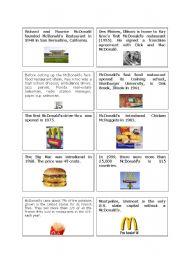 English Worksheets: Rally - McDonald�s