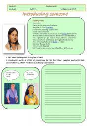 English Worksheets: Worksheet �introducing someone�