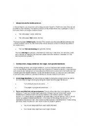 English Worksheets: steps of formal writing