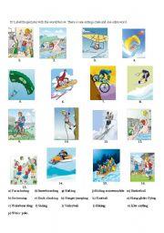 English Worksheet: extreme sports