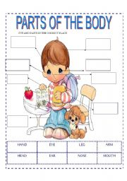 English Worksheets: PARTS OD THE BODY (PART 3)