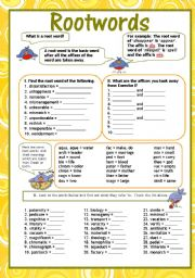 Felix Blog: Root Words Worksheet