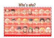 English Worksheet: Who´s who?