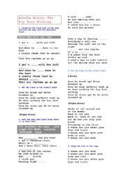 English Worksheet: the boy does nothing, alesha dixon