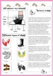 English Worksheet: All about my shoes