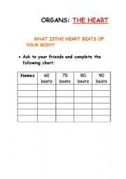English Worksheets: Organs the heart