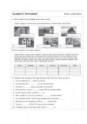 english teaching worksheets the house. Black Bedroom Furniture Sets. Home Design Ideas