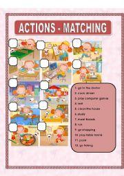 English Worksheets: ACTIONS - MATCHING