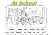 Worksheets Grade 2 Composition english teaching worksheets picture composition at school