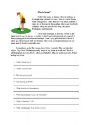 English Worksheets: Who is Susan?