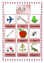 English worksheet: first page of picture dictionary