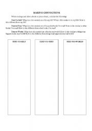 English worksheets: Making Connections 3-Column Chart