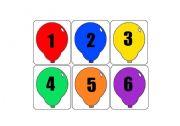 English worksheet: numbers Balloon