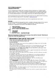 English Worksheet: Language Analysis for CELTA assignment