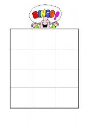 English Worksheet: Bingo game, telling time, 12 clocks to glue in.