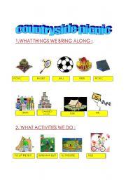 English Worksheet: countryside picnic