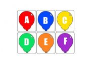 English worksheet: ABC ballons