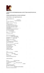 English Worksheet: Old song to teach family values and modals