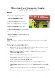 Accidents and Emergencies Roleplay