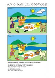 English Worksheet: Spot the differences 12