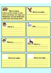 English Worksheets: Describing animals 2/2