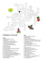 CHRISTMAS CROSSWORD I