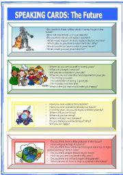 English Worksheet: Speaking Cards: the future (2 of 2)
