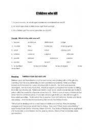 English Worksheet: Bowling for Columbine /