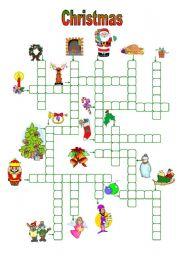 English Worksheet: Christmas crosswords (13.11.09)