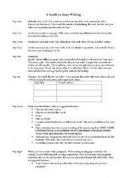 English Worksheets: A guide to writing a text response