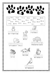 English Worksheets: Pets - Find the words