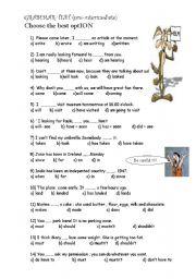 pre intermediate test