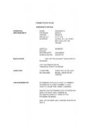 English Worksheets: resume sample