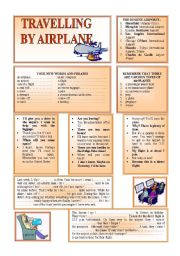 English Worksheets: TRAVELLING BY PLANE