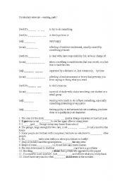 English Worksheets: vocb. exercise