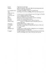 English Worksheets: vocab. match exercise
