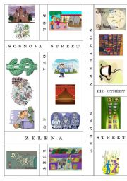English Worksheet: In the city (map)