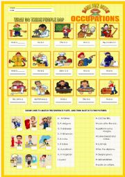 English Worksheets: FUN WITH OCCUPATIONS