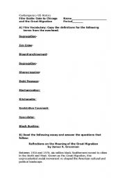 English Worksheet: Goin to Chicago Film Guide