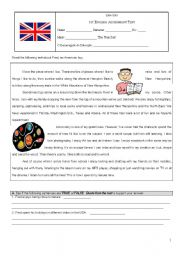 English Worksheets: Assessment Test on Hobbies