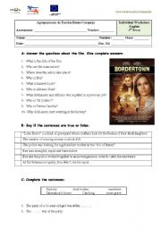 English Worksheets: Bordertown - the film