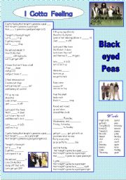 song black eyed peas. I gotta feeling.