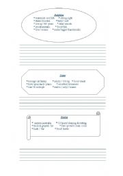 English Worksheets: write about the animals