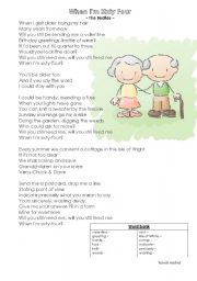 English Worksheet: When I´m 64 - guided writing (letter) lesson plan