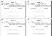 English Worksheets: Purim card