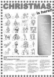 English Worksheets: CHRISTMAS is here! Pic and Definition EXERCISE.